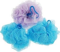 "Духи, Парфюмерия, косметика Губка банная сетчатая ""Bant"", синяя + синяя + фиолетовая - Акватория"