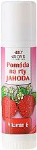 "Парфумерія, косметика Бальзам для губ ""Полуниця"" - Bione Cosmetics Organic Lip Balm Strawberry"