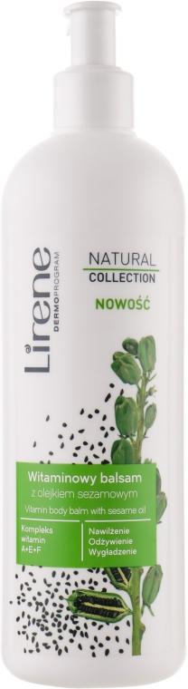 Витаминный бальзам для тела с кунжутным маслом - Lirene Natural Collection