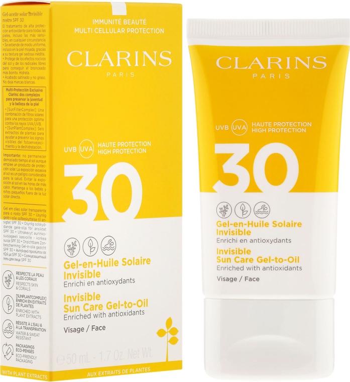 Солнцезащитный гель для лица - Clarins Gel-en-Huile Solaire Invisible Visage SPF 30