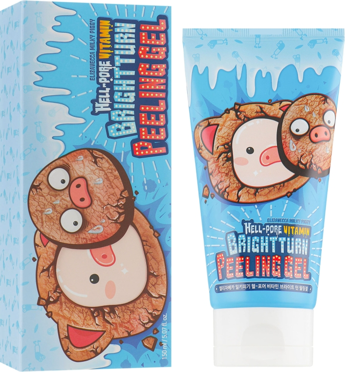 Мягкий пилинг-гель - Elizavecca Hell-pore Vitamin Brightturn Peeling Gel