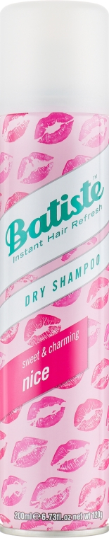 Сухой шампунь - Batiste Nice Sweet and Charming Dry Shampoo