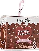 Духи, Парфюмерия, косметика Набор - I Love... Chocolate Fudge Cake (sh/cr/100ml + b/butter/50ml + sponge)