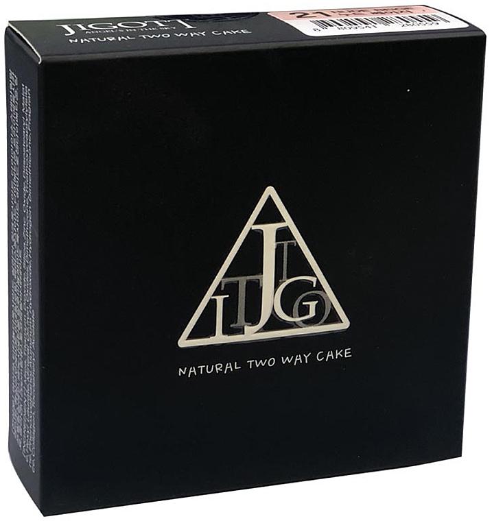 Компактная матирующая пудра с коллагеном - Jigott Natural Two Way Cake