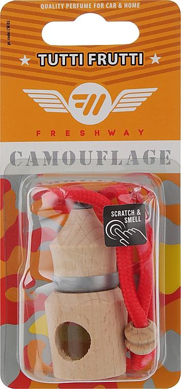 """Ароматизатор пробковый """"Тутти фрутти"""" для авто - Fresh Way Camouflage Wood Tutti Frutti"""
