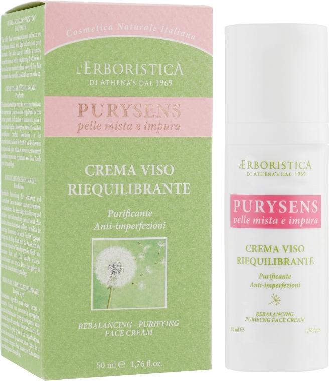 """Антивозрастной лечебный крем для лица """"Пурисенс"""" - Athena's Erboristica Purysens Rebalancing Anti-Ageing Face Cream"""