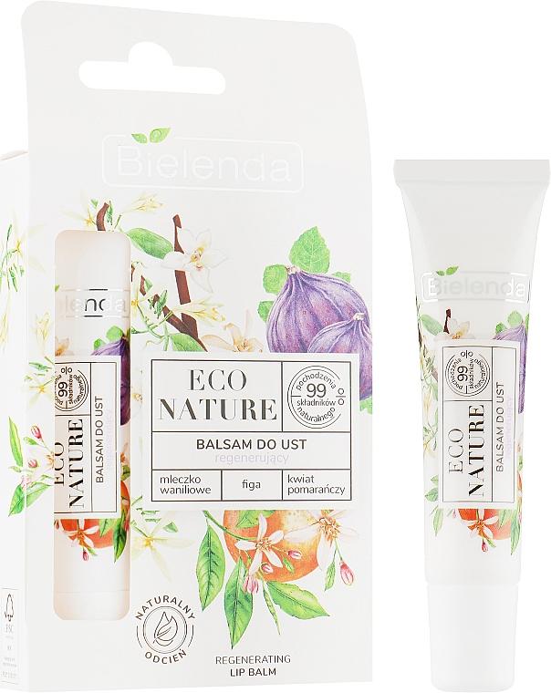 Восстанавливающий бальзам для губ - Bielenda Eco Nature Vanilla Milk, Figs, Orange Blossom