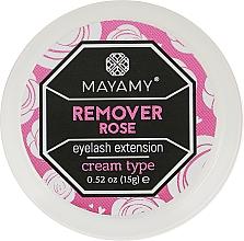 Духи, Парфюмерия, косметика Ремувер для ресниц кремовый - Mayamy Cream Type Remover Rose