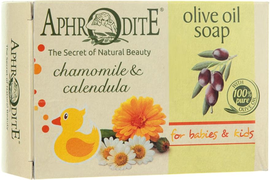 Оливковое мыло с ромашкой и календулой - Aphrodite Olive Oil Soap With Chamomile & Calendula
