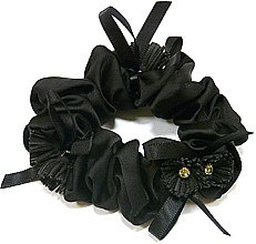 Духи, Парфюмерия, косметика Резинка для волос P26959-2, d-9 см, черная - Akcent