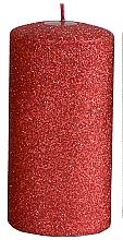 Духи, Парфюмерия, косметика Декоративная свеча, красная, 7x18 см - Artman Glamour
