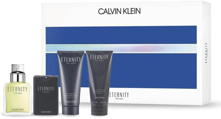 Calvin Klein Eternity For Men - Набор (edt/100ml + ash/b/100ml + edt/20ml + sh/gel/100ml)