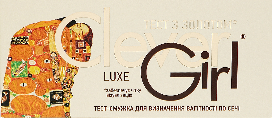 """Тест на беременность """"Clever Girl Luxe"""" с золотом - Синтез"""