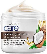Духи, Парфюмерия, косметика Интенсивно восстанавливающий крем для тела, лица и рук с кокосовым маслом - Avon Care