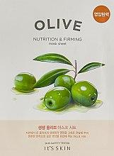 Тканевая маска - It's Skin The Fresh Olive Mask Sheet — фото N1