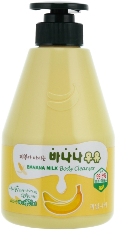 Банановый гель для душа - Welcos Banana Milk Skin Drinks Body Cleanser