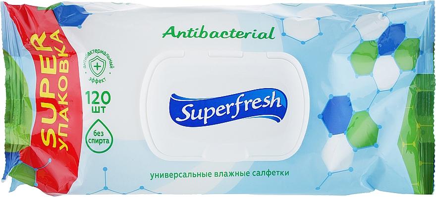 """Влажные салфетки с клапаном """"Antibacterial"""" - Superfresh"""