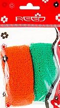 Духи, Парфюмерия, косметика Набор резинок для волос, 7583, 2шт, зеленая + коричневая - Reed
