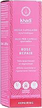 Духи, Парфюмерия, косметика Масло для интенсивного питания волос - Khadi Ayuverdic Rose Repair Hair Oil