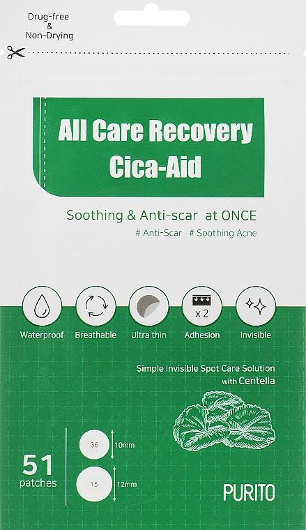Патчи от воспалений успокаивающие - Purito All Care Recovery Cica-Aid