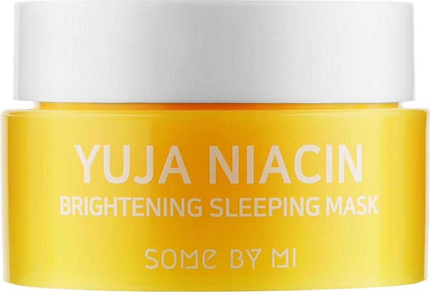 Ночная выравнивающая тон маска для лица - Some By Mi Yuja Niacin Brightening Sleeping (мини)