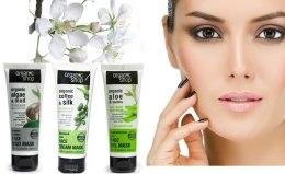 """Омолоджувальна маска для обличчя """"Шовкова кава"""" - Organic Shop Cream Mask Face  — фото N3"""