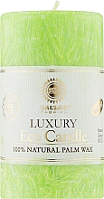 Духи, Парфюмерия, косметика Свеча из пальмового воска, 10.5 см, ярко зеленая - Saules Fabrika Eco Candle