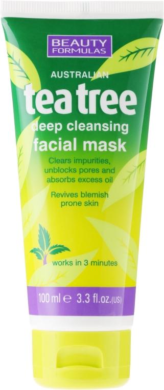 """Маска глубокой очистки для лица """"Чайное дерево"""" - Beauty Formulas Tea Tree Deep Cleansing Facial Mask"""