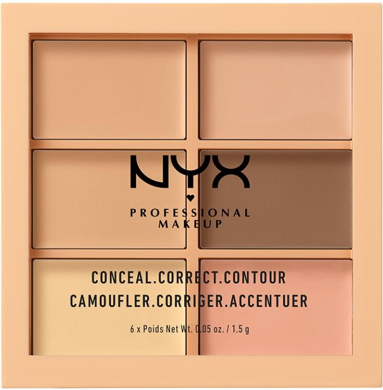Палитра корректирующих средств для лица - NYX Professional Makeup Palette Conceal Correct Contour