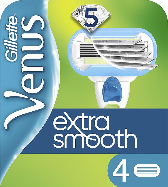 Сменные кассеты для бритья, 4 шт. - Gillette Venus Extra Smooth Embrace