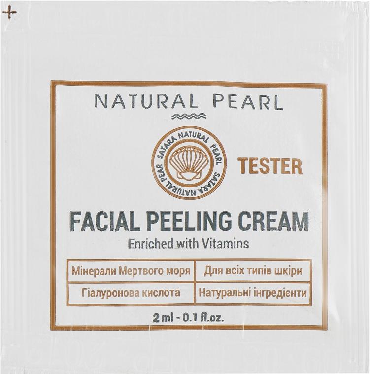 Крем-пилинг для лица, на основе минералов Мертвого моря - Satara Natural Pearl Facial Peeling Cream (пробник)