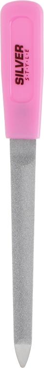 Пилка для ногтей сапфировая с радиусом, 14см, розовая - Silver Style
