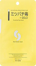 "Духи, Парфюмерия, косметика Маска под глаза против морщин ""Золото + Пчелиный яд"" - Mitomo Essence Eye Mask Gold + Beevenom"