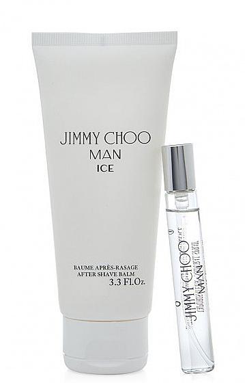 Jimmy Choo Man Ice - Набор (edt/mini/7.5ml + afsh/balm/50ml)