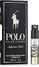 Духи, Парфюмерия, косметика Ralph Lauren Polo Supreme Oud - Парфюмированная вода (пробник)