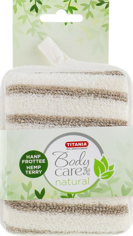 Мочалка банная, массажная в форме блока - TITANIA