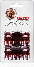 Духи, Парфюмерия, косметика Заколка для волос, 6 см, 2 шт, коричневая - Titania