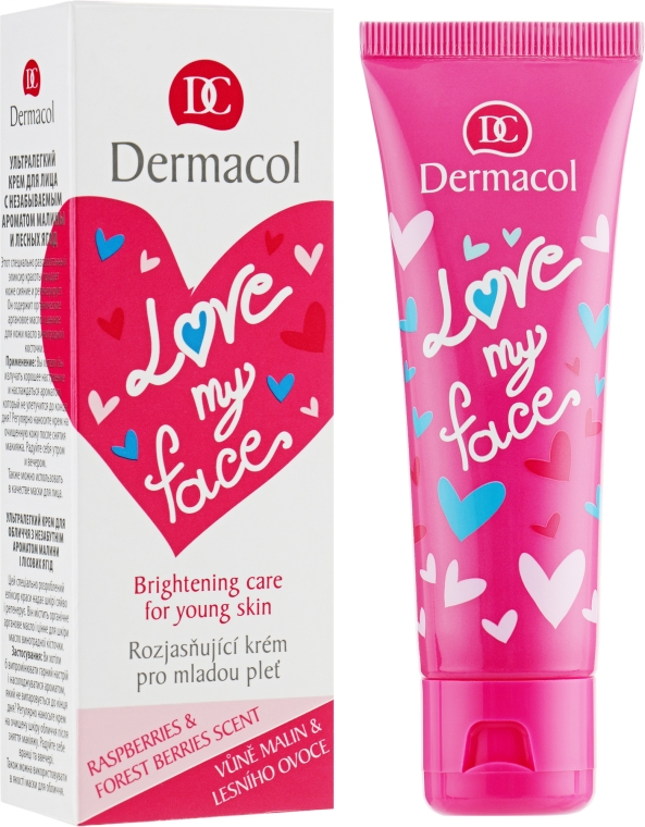 Крем-сорбет восстанавливающий и придающий сияние коже лица - Dermacol Love My Face Moisturizing Care For Young Skin