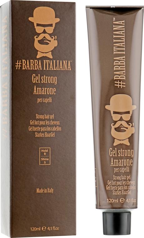 Гель сильной фиксации - Barba Italiana Gel Strong Amarone