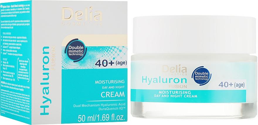 Крем интенсивно увлажняющий против морщин 40+ - Delia Hyaluron Fusion Anti-Wrinkle-Intensive Moisturising Day and Night Cream 40+