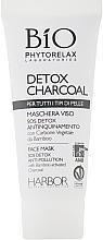 Набор - Phytorelax Laboratories Bio Detox Charcoal (f/gel/40ml + f/milk/40ml + mask/20ml + bag) — фото N6
