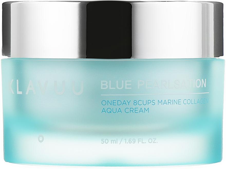 Крем для лица с морским коллагеном - Klavuu Blue Pearlsation One Day 9 Cups Marine Collagen Aqua Cream