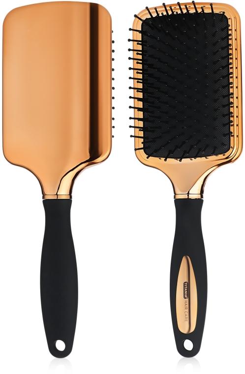 Массажная щетка для волос, прямоугольная - Titania