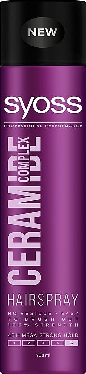"""Лак для волос """"Ceramide Complex"""", максимально сильная фиксация - Syoss Ceramide Complex"""