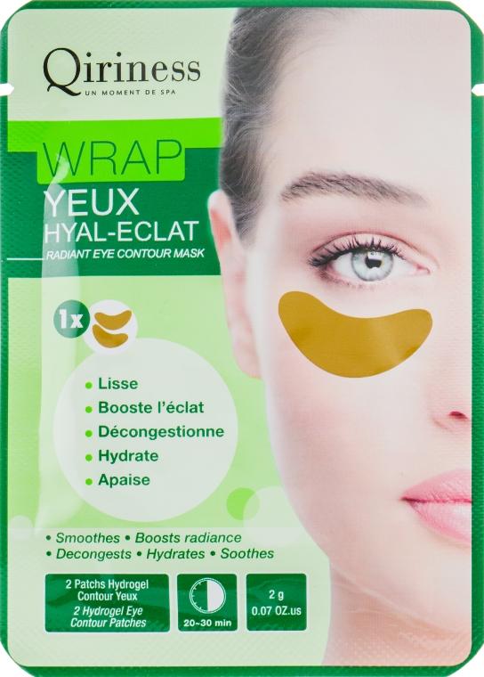Гидрогелевые омолаживающие патчи для контура глаз - Qiriness Le Wrap Yeux Hyal-eclat Radiant Eye Contour Mask