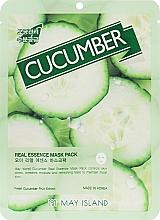 Духи, Парфюмерия, косметика Маска для лица тканевая с огурцом - May Island Real Essence Cucumber Mask Pack