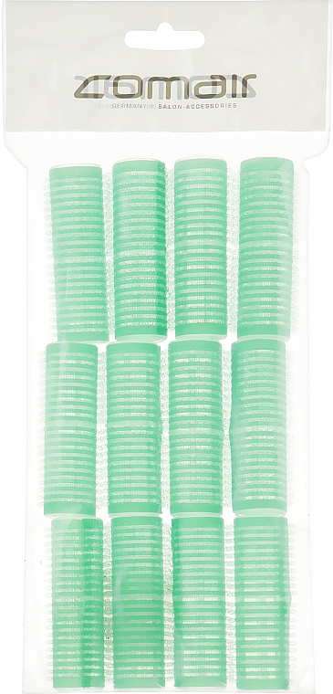"Комплект бигуди-липучки ""Velcro plus"", 12 штук, 20мм, зеленые - Comair"