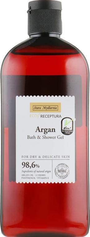 Питательный гель для ванны и душа с маслом арганы - Stara Mydlarnia Argan Bath And Shower Gel