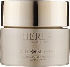 Духи, Парфюмерия, косметика Лифтинг-крем против морщин для лица - Herla Gold Supreme 24K Gold Super Lift Anti-Wrinkle Global Cream