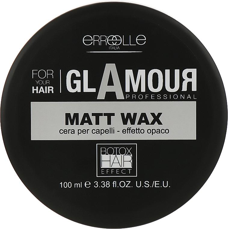 Матовый моделирующий воск для волос с эффектом ботокса - Erreelle Italia Glamour Professional Cera Matt Wax Effetto Botox